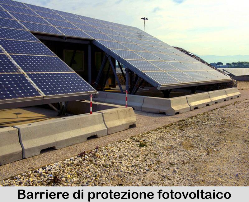 Barriere di protezione e sostegno impianti fotovoltaico